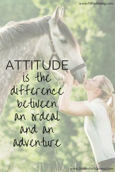 A little attitude check goes a long way when talking horses...