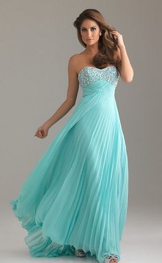A-Line Strapless Sweetheart Floor-Length Chiffon Prom Dress