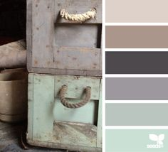 rustic tones - color scheme option for living/dining/kitchen area