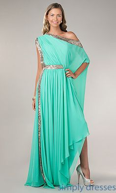 Floor Length Off the Shoulder Dress at SimplyDresses.com