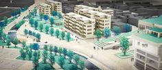 Complejo Estación de Metro Rosario, bloques de vivienda y parque en zona de ronda, proyecto de grado Arquitecto Camilo Espitia - Bogotá D.C.