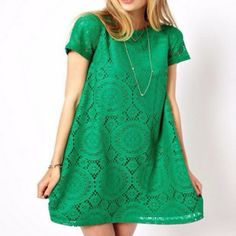 Embroidered Lace Trapeze Dress – Daisy Dress For Less