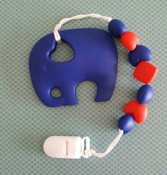 Hey, I found this really awesome Etsy listing at https://www.etsy.com/ca/listing/477342181/navy-baby-elephant-teether-with-clip-for