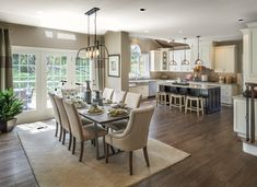 A tasteful kitchen and living room area at the Preserve at Providence in Collegeville, Pa.