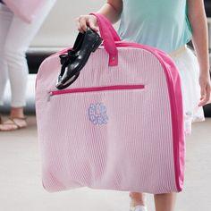 A personal favorite from my Etsy shop https://www.etsy.com/listing/503884296/pink-seersucker-garment-bag-custom