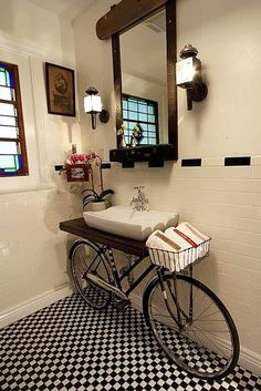 DIY: the bicycle wash basin!