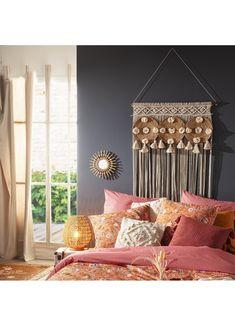 Rideau fil en macramé 3 en 1 (Beige) Decoration, Ceiling Lights, Curtains, Bedroom, Ajouter, Catalogue, Barre, Dimensions, Home Decor