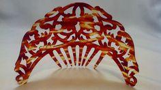 Antique Faux Tortoise Hand Carved Tiara Hair Comb Victorian Spanish Peineta RARE | eBay Art Deco / Downton Abby / Great Gatsby