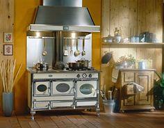 Cuisinière Arco Prestige Laiton POELES A BOIS Pinterest - Cuisiniere mixte 2 gaz 2 electrique pour idees de deco de cuisine