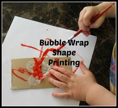 Make your own bubble wrap shape stamps to make learning shapes fun for toddlers and preschoolers. Spelling Activities, Alphabet Activities, Craft Activities For Kids, Projects For Kids, Crafts For Kids, Preschool Ideas, Art Projects, Craft Ideas, Learning Shapes