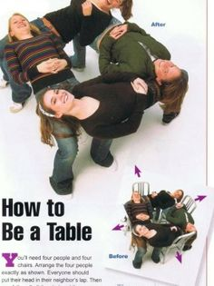 Funny Pictures - How to be a table