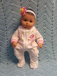 Baby Doll Clothes to fit 15 inch baby doll Flirty by TheDollyDama