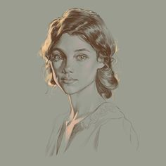 study (astrid berges frisbey), SERGEI SOROCHKIN on ArtStation at https://www.artstation.com/artwork/1vRJX