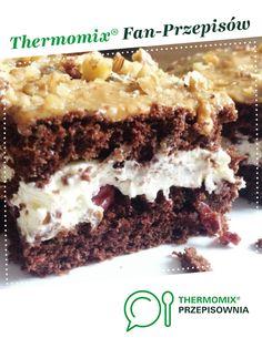 Natchnienie - biszkopt z wiśniami jest to przepis stworzony przez użytkownika Jaginek. Ten przepis na Thermomix<sup>®</sup> znajdziesz w kategorii Słodkie wypieki na www.przepisownia.pl, społeczności Thermomix<sup>®</sup>. Food And Drink, Baking, Thermomix, Bakken, Backen, Sweets, Pastries, Roast