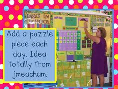calendar time love this puzzle idea