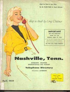 Old Telephone Books: 1959 Nashville, Tennessee United States