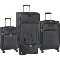 Weatherproof Tour 4 Piece Expandable Spinner Luggage Set