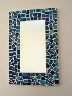 Mosaic Mirrors, Mosaic Art, Mosaic Glass, Stained Glass, Photo Mosaic, Mirror Ideas, Headboards, Diy Paper, Furniture Decor