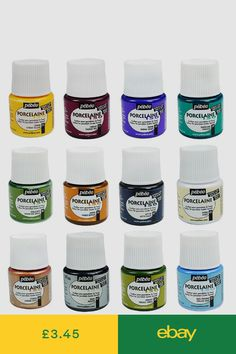 Pebeo 20 ml Outliner Tubes I Ceramic Glass Paint Cerne