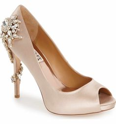 d259b5a79296 Badgley Mischka  Royal  Crystal Embellished Peeptoe Pump (Women)
