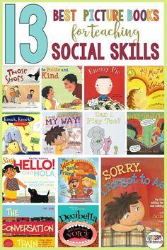 Book Club List, Book Lists, Kids Book Club, Teaching Social Skills, Social Emotional Learning, Emotional Books, Emotional Pictures, Preschool Books, Feelings Preschool