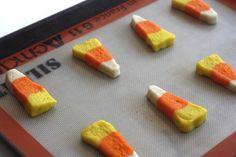 Candy corn halloween cookies, #Candy, #Cookies, #Corn, #Halloween, #Sugar