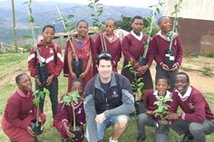 Namenyi Project Hope in South Africa teaching children conservation by bringing fruit trees to rural schools and teaching them how to plant and care for them. Fruit Trees, Continents, Teaching Kids, Conservation, Schools, South Africa, Foundation, Plant, Action