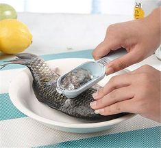 New Fish Scale Remover Scaler Scraper Cleaner Kitchen Tool Peeler Gadgets #100BrandNewHighquality