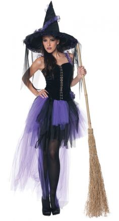 Sexy Womens Gothic Witch Victorian Halloween Costume | Victorian ...