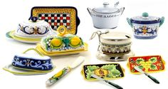 A beautiful collection of Butter Dishes, Cheese Trays and Parmesan Bowls, masterfully hand painted  in Deruta-Italy!  The centuries-old traditions of Italian ceramics are honored by the colors, designs and craftsmanship of each piece.    Cover your butter for freshness and keep refrigerator odors out. Butter dishes are designed to hold one or two sticks of butter.  Don't miss our NEW and gorgeous  utter Dish & Spreader sets! Painted Ceramics, Ceramic Painting, Cheese Trays, Stick Of Butter, Butter Dish, Parmesan, Refrigerator, Sticks, Bowls