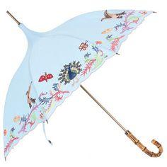 Manuscript embroidery short parasol