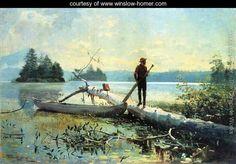 The Trapper, Adirondacks - Winslow Homer - www.winslow-homer.com