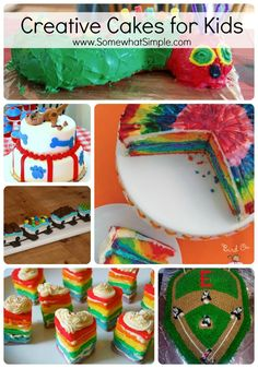 15 Cakes for Kids from SomewhatSimple.com