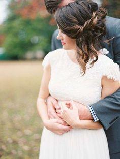 Idee acconciature da sposa per capelli medi (Foto 15/41) | PourFemme