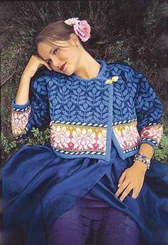 Blue Jacket from Solveig Hisdal, Oleana's master designer