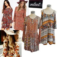 Magnificent items for #SS16 #NicciSummer16 #printed #dresses #boho #chic