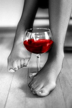 Red red wine color splash ~ by Ladee Pink