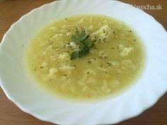 Karfiolová polievka so strúhanými zemiakmi - Recept