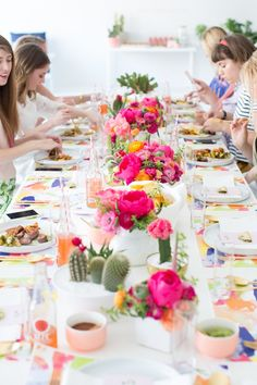 a cactus inspired brunch party   sugar & cloth