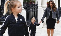 Tamara ensured that her sole offspring stepped out in style for their leisurely excursion in London on Friday, dressing her in a black Adidas tracksuit, teamed with a pair of matching fluffy sliders.