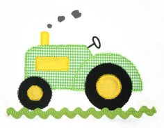 Tractor Applique Design with Ric Rac