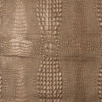 Metallic Gold Crocodile Embossed Faux Leather with a Black Knit Backing