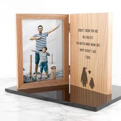 Engraved Father's Day Giraffe Book Photo Frame to treasure your special moments with the father figure in your life - whether it is your dad, grand-dad, uncle or big brother 👨🏻🎉✨ Daddy Gifts, Fathers Day Gifts, Happy Fathers Day Photos, Wooden Keychain, Book And Frame, Father Photo, Personalised Gifts For Him, Penguin Books, Gifts For Boys