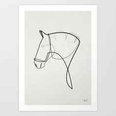 This feels so effortless... One line Horse 1403 by Quibe