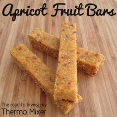 Thermomix Apricot Fruit Bars Bellini Recipe, Fruit Bars, Muesli, Granola, Date Recipes Healthy, Baby Food Recipes, Sweet Recipes, Snack Recipes, Cooking Recipes