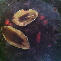 Spicy bean soup with bay leaves