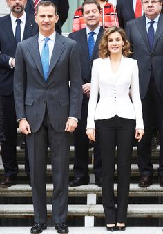 King Felipe VI of Spain and Queen Letizia of Spain attended a Meeting of the National Commission for the commemoration of the fourth centenary of the death of Miguel de Cervantes at Zarzuela Palace on April 14, 2016 in Madrid, Spain. (Miguel de Cervantes; (29 September 1547 – 22 April 1616),is widely regarded as the greatest writer in the Spanish language and the world's pre-eminent novelist. His major work, Don Quixote).