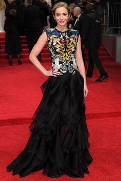 Emily Blunt in Alexander McQueen, 2017 BAFTAs