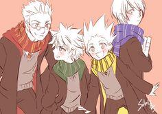 Hunter x Hunter - Leorio, Killua, Gon and Kurapika #Harry_Potter