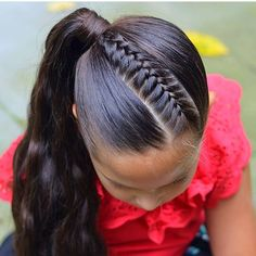 Black Little Girl Hairstyles, Easy Hairstyles For Long Hair, Braided Hairstyles, Mexican Hairstyles, Competition Hair, Girl Hair Dos, Ponytail Styles, Natural Hair Styles, Long Hair Styles